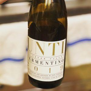 Bottle of Unti Vermentino, Dry Creek Valley, 2019